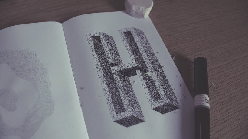 Dibujando lettering punto por punto 15