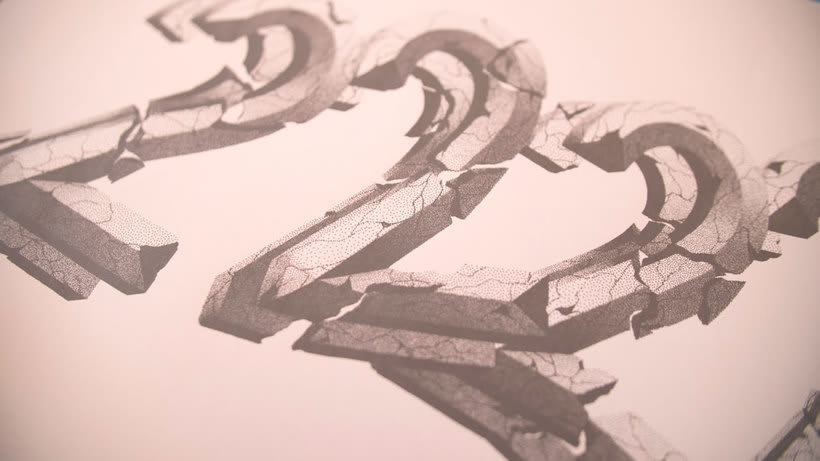 Dibujando lettering punto por punto 20