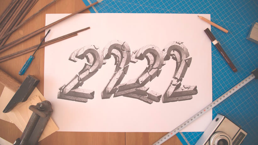 Dibujando lettering punto por punto 21