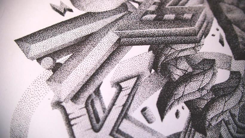Dibujando lettering punto por punto 22