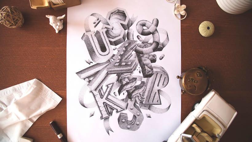 Dibujando lettering punto por punto 23