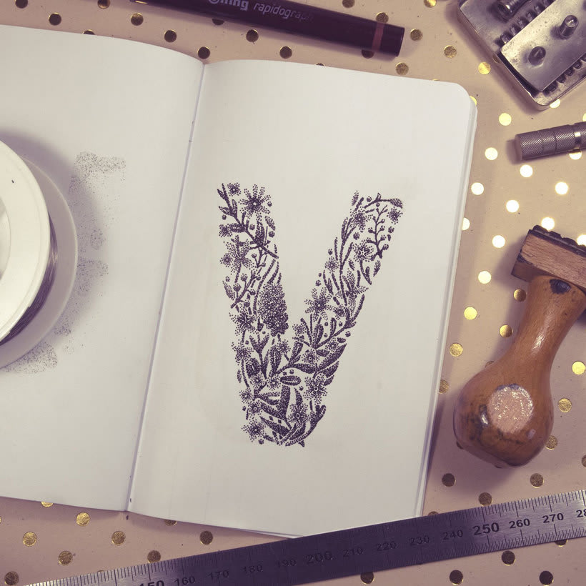 Dibujando lettering punto por punto 26
