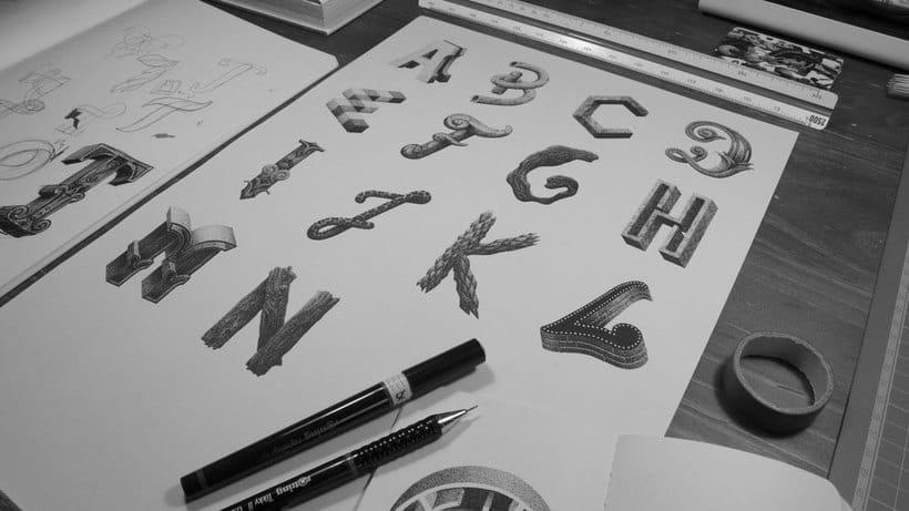 Dibujando lettering punto por punto 25