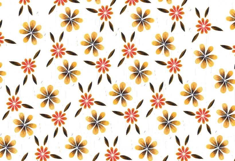 Patrones de flores y cabezas 2