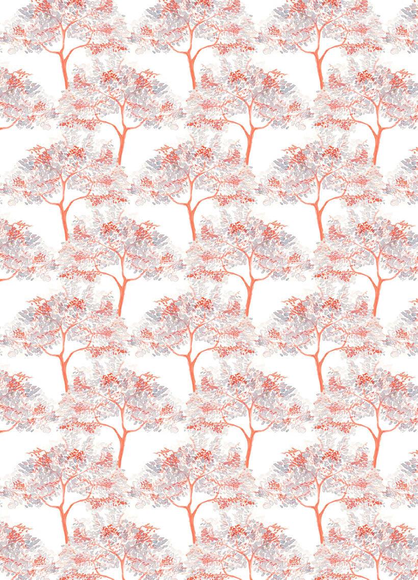 Patrones de flores y cabezas 1