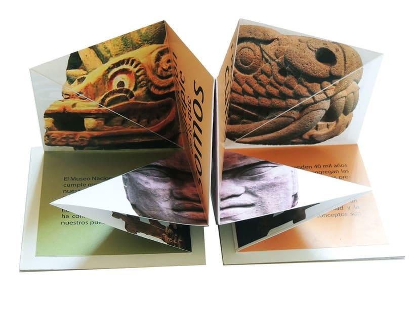 Propuesta de folleto para 50 aniversario del Museo Nacional de Antropología e Historia de México 0