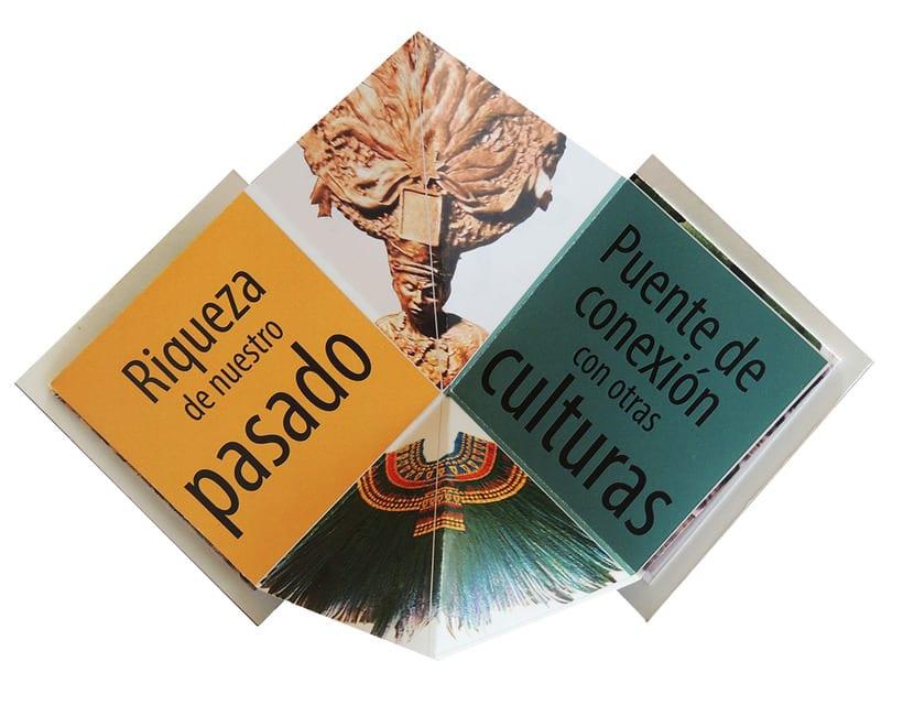 Propuesta de folleto para 50 aniversario del Museo Nacional de Antropología e Historia de México 2
