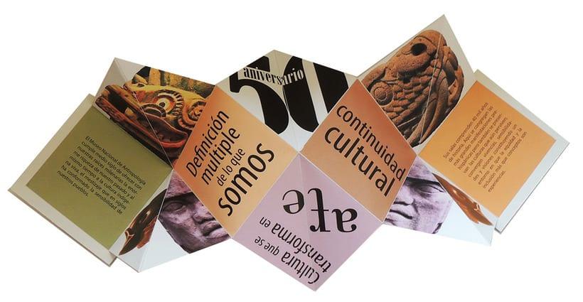 Propuesta de folleto para 50 aniversario del Museo Nacional de Antropología e Historia de México 3