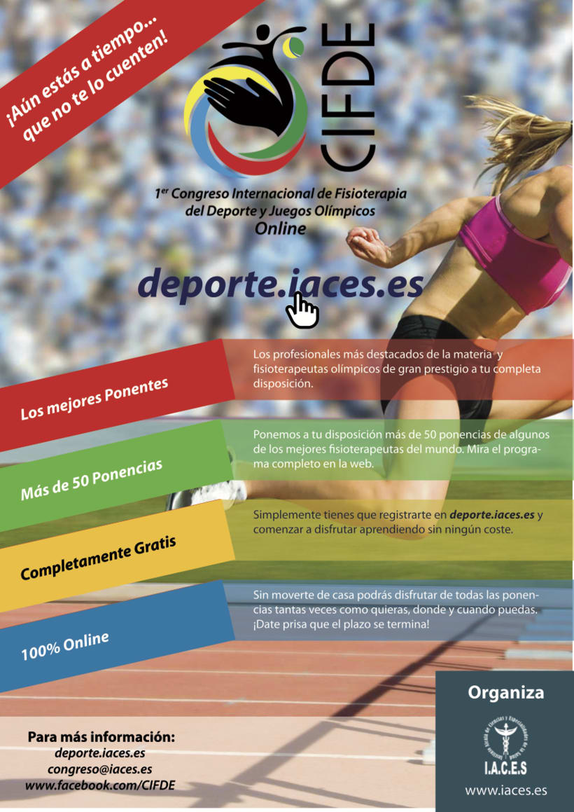 Folleto CIFDE-  I Congreso Internacional online de Fisioterapia Deportiva y Juegos Olímpicos 0