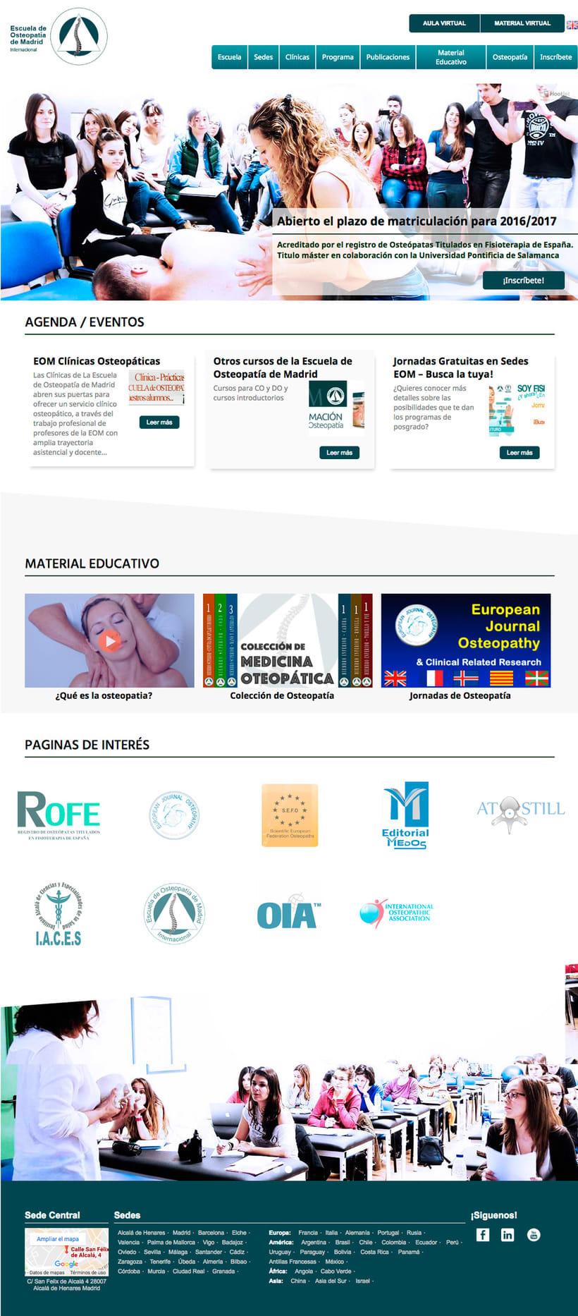 Web de EOM- Escuela de Osteopatía de Madrid -1