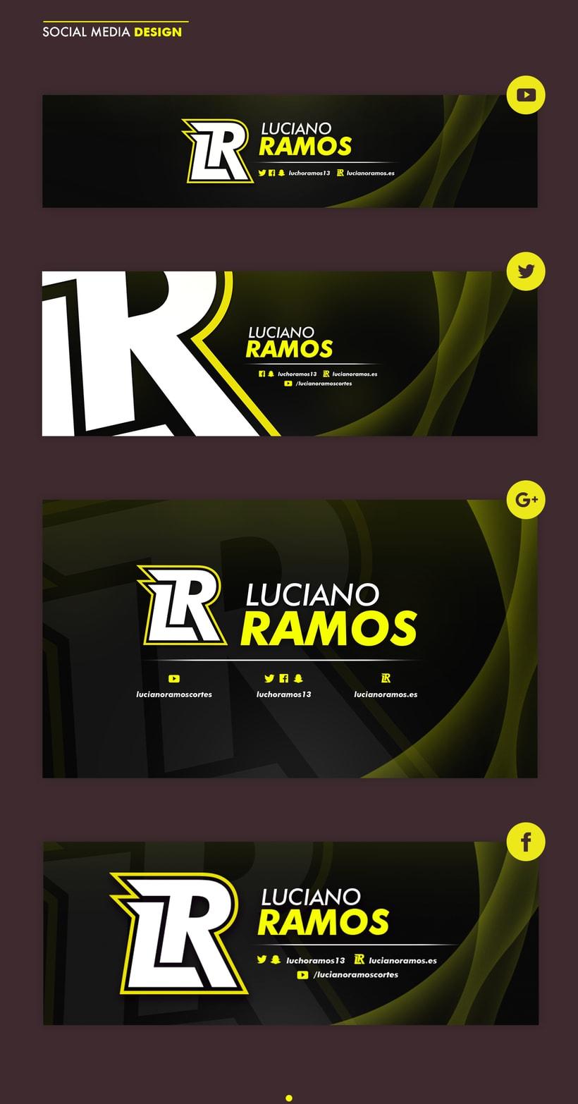 Logo y social media Luciano Ramos 5