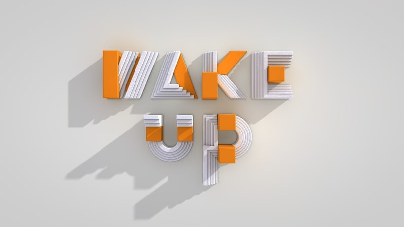 Wake Up | 3D animation based on Igarashi's Alphabets 5