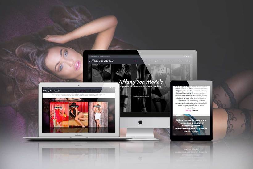 Diseño web para Tiffany Top Models 0
