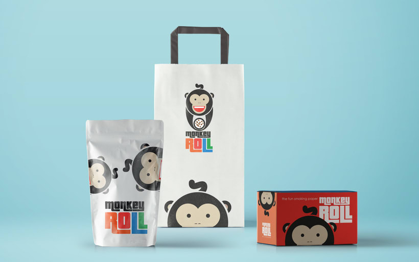 Logotipo + Packaging Monkey Roll 3