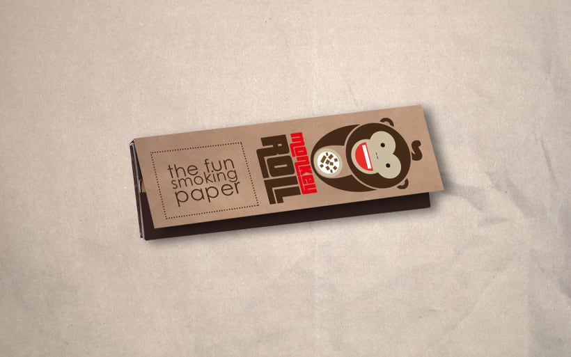 Logotipo + Packaging Monkey Roll 5