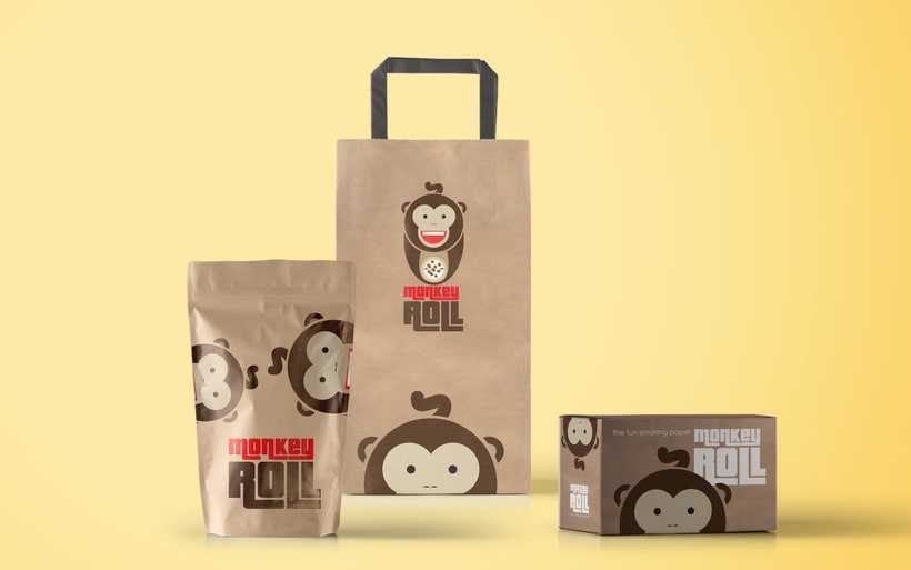 Logotipo + Packaging Monkey Roll 6
