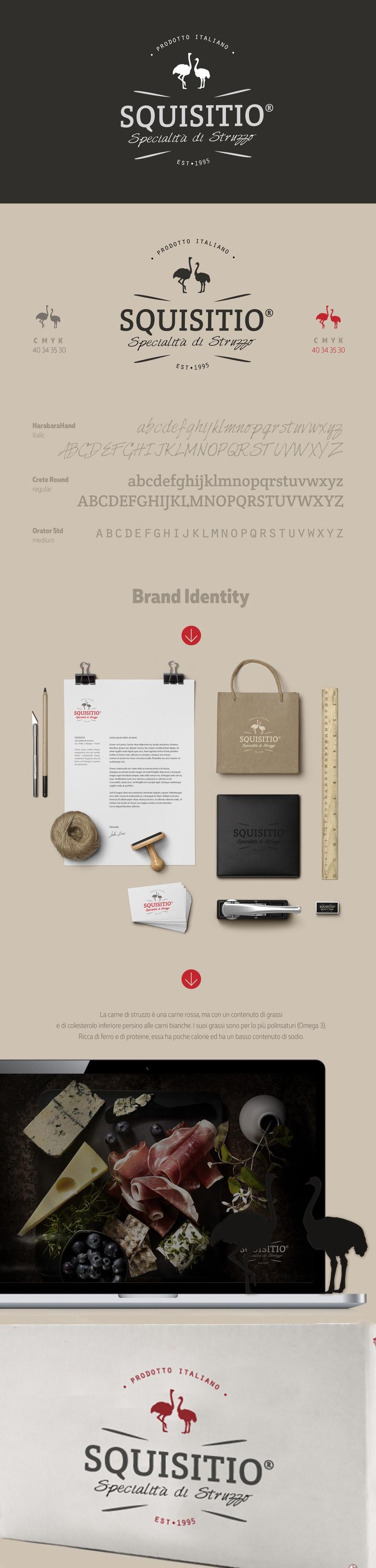 Brand Identity Squisitio - carne de avestruz -1