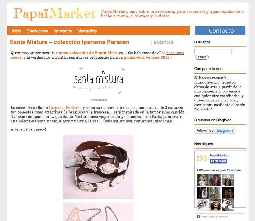 Branding & Community Manager for Santa Mistura 25