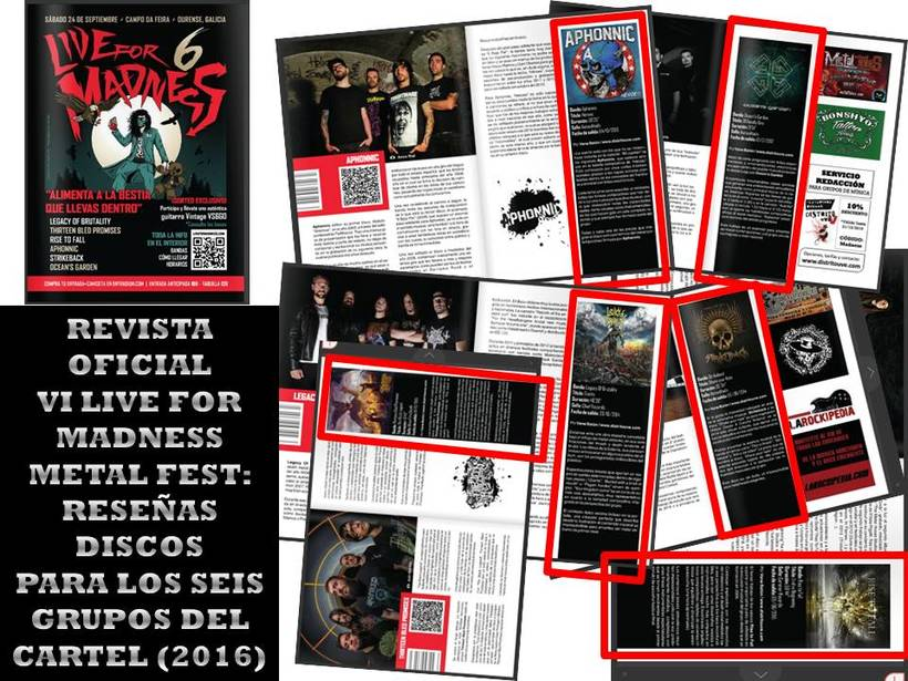 Revista VI LIVE FOR MADNESS METAL FEST (2016) - Reseñas discos -1