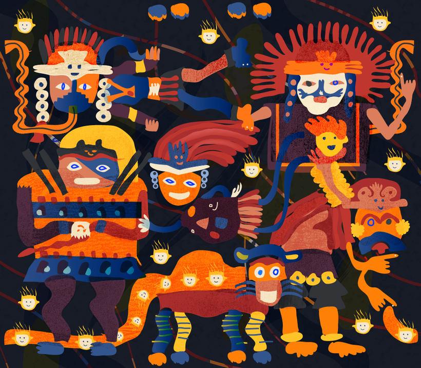 Cultura Paracas Dibujos Pattern Design Dioses De La