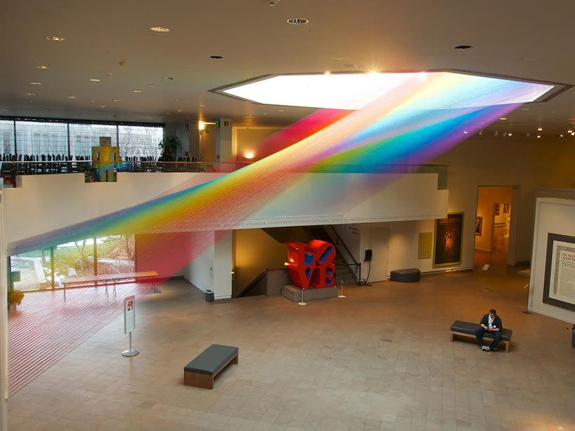 Gabriel Dawe crea arcoíris con hilo y sin agua 7