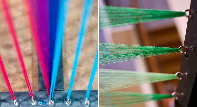 Gabriel Dawe crea arcoíris con hilo y sin agua 8