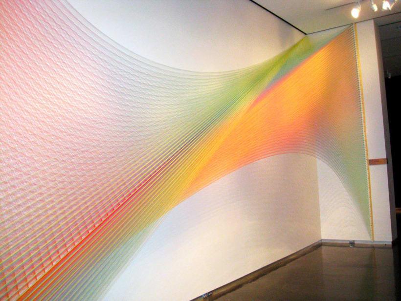 Gabriel Dawe crea arcoíris con hilo y sin agua 13
