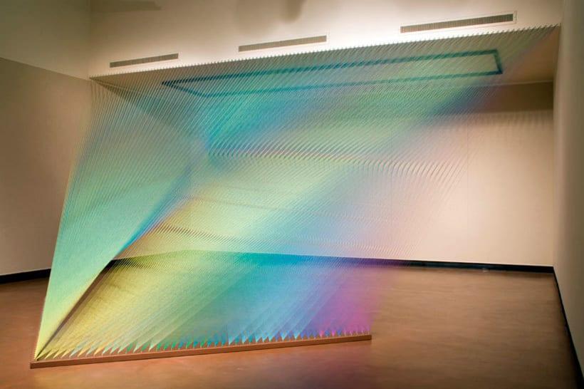 Gabriel Dawe crea arcoíris con hilo y sin agua 15