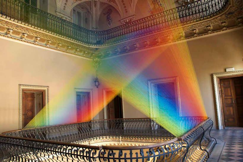 Gabriel Dawe crea arcoíris con hilo y sin agua 16