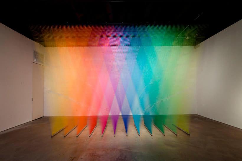 Gabriel Dawe crea arcoíris con hilo y sin agua 17