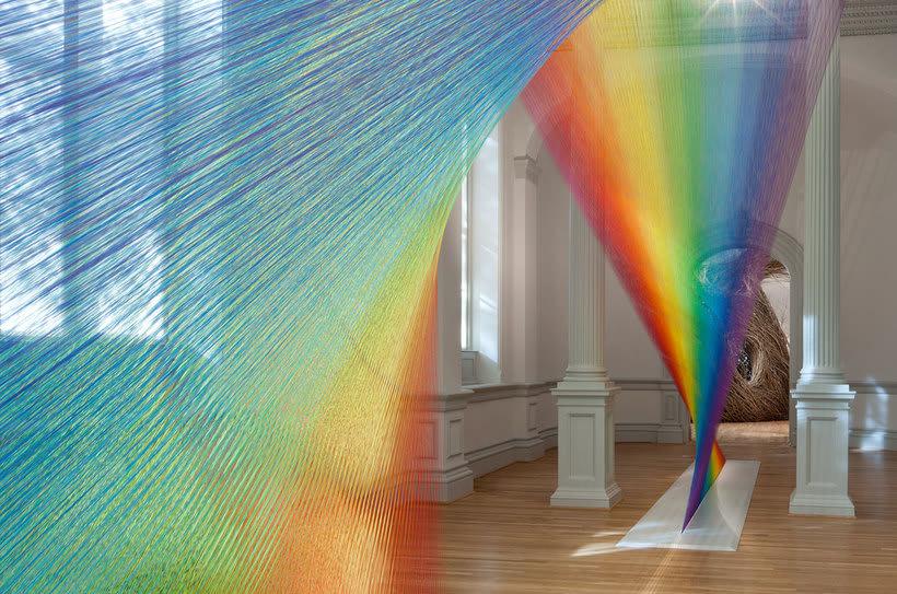 Gabriel Dawe crea arcoíris con hilo y sin agua 19