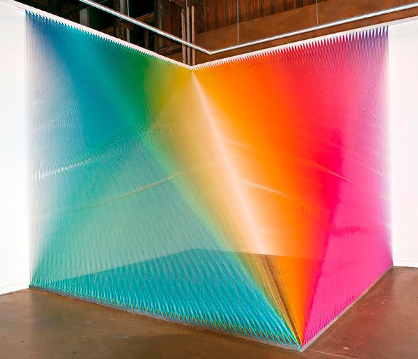 Gabriel Dawe crea arcoíris con hilo y sin agua 21