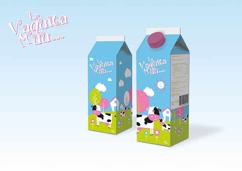 Diseño de brick de leche para niños 0