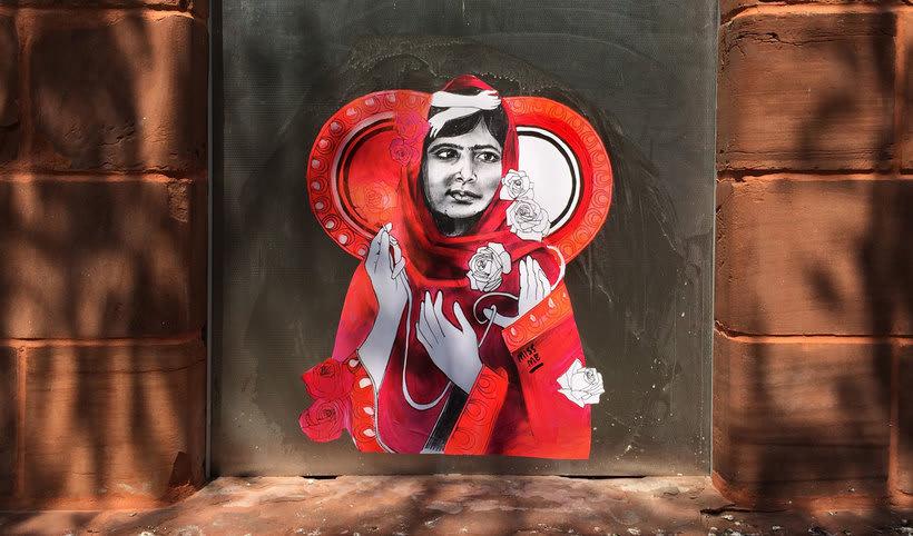 ¿Por qué Missme cambió su trabajo por el arte urbano? 7