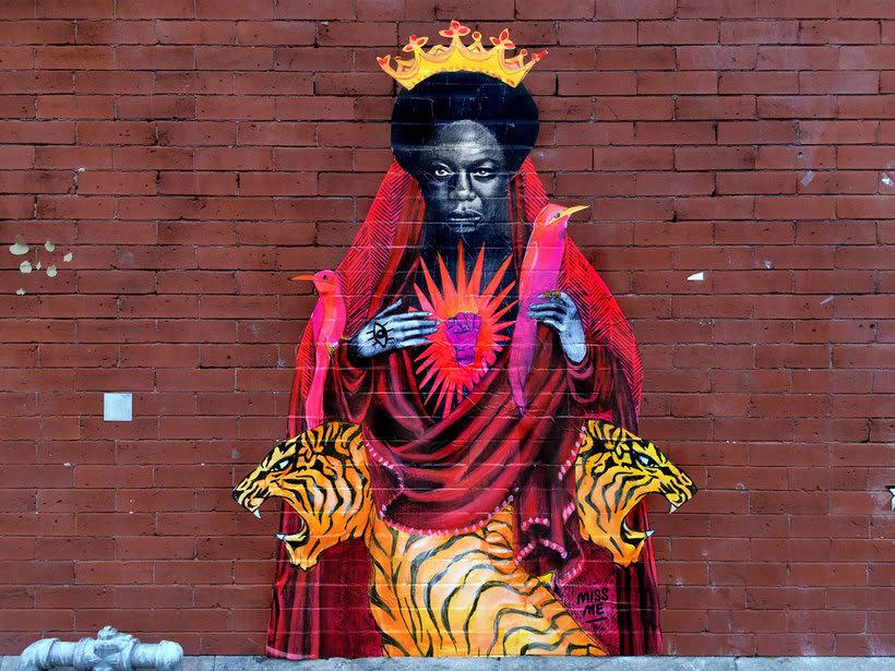 ¿Por qué Missme cambió su trabajo por el arte urbano? 16