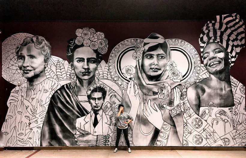 ¿Por qué Missme cambió su trabajo por el arte urbano? 20