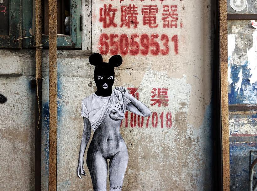 ¿Por qué Missme cambió su trabajo por el arte urbano? 24