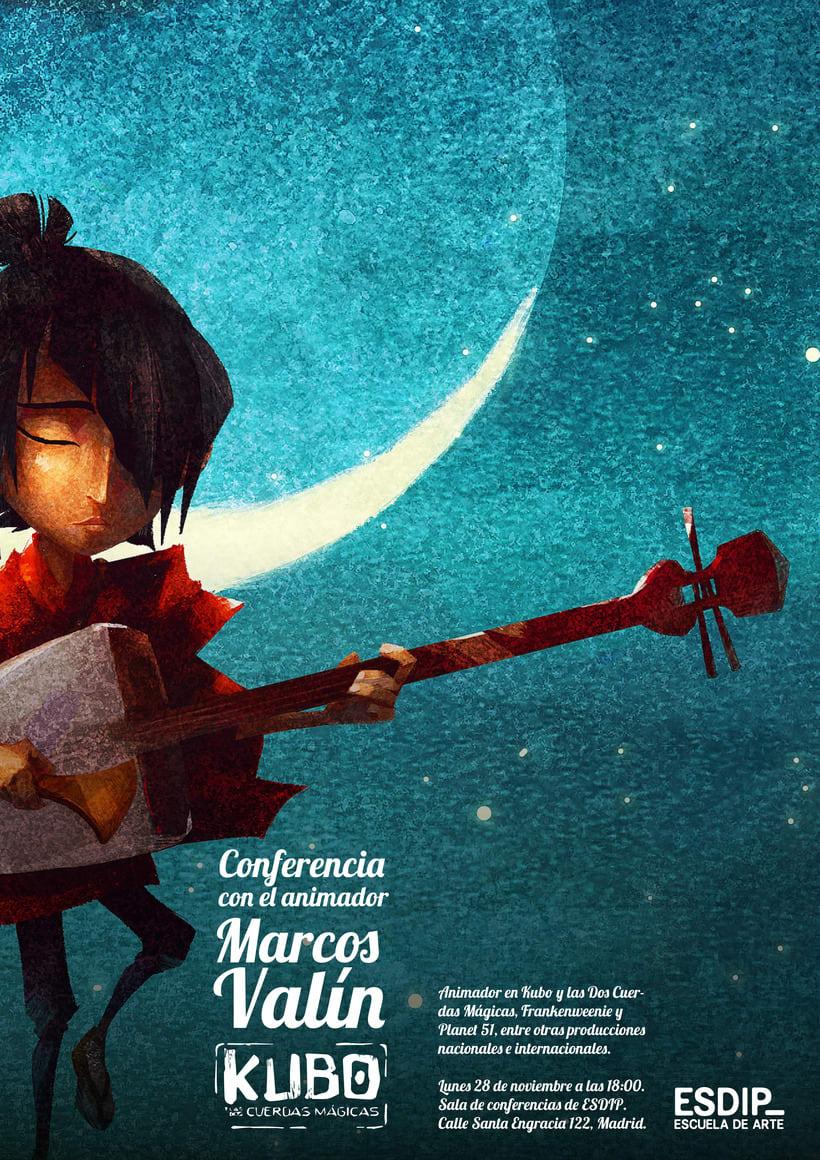 Conferencia con Marcos Valín, animador en Kubo y las Dos Cuerdas Mágicas 0