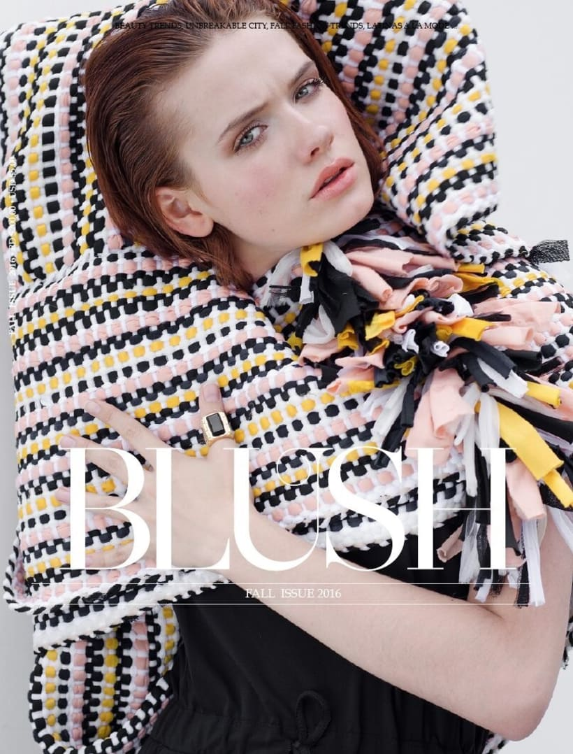 BLUSH Magazine Cover Story Fall Issue 2016 -1