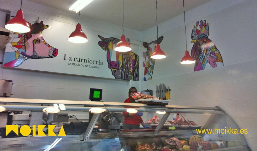 Ilustraciones: Interiorismo comercial, carnicerias 4