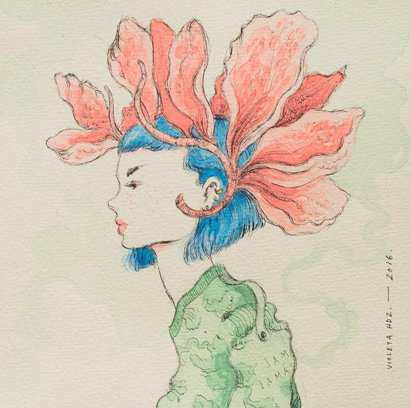 La belleza bajo el lápiz de Violeta Hernández 8