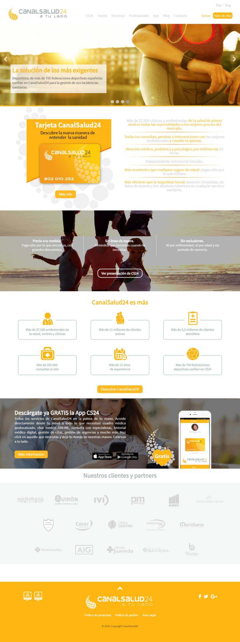 Desarrollo y maquetación web en www.canalsalud24.com -1