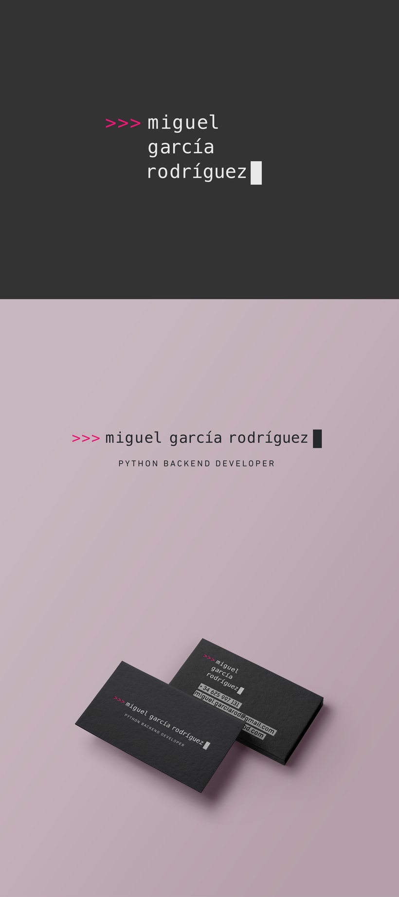 Miguel García - Logo & Business Card -1