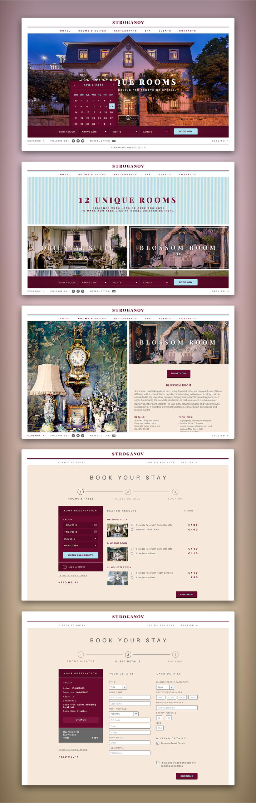 Stroganov Hotel - Website 2