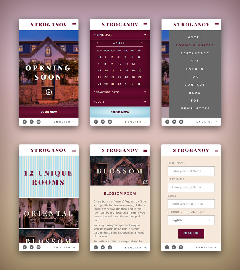 Stroganov Hotel - Website 4