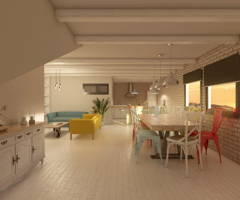 Interiores 3D de Casa Particular en Ciudad Real 8