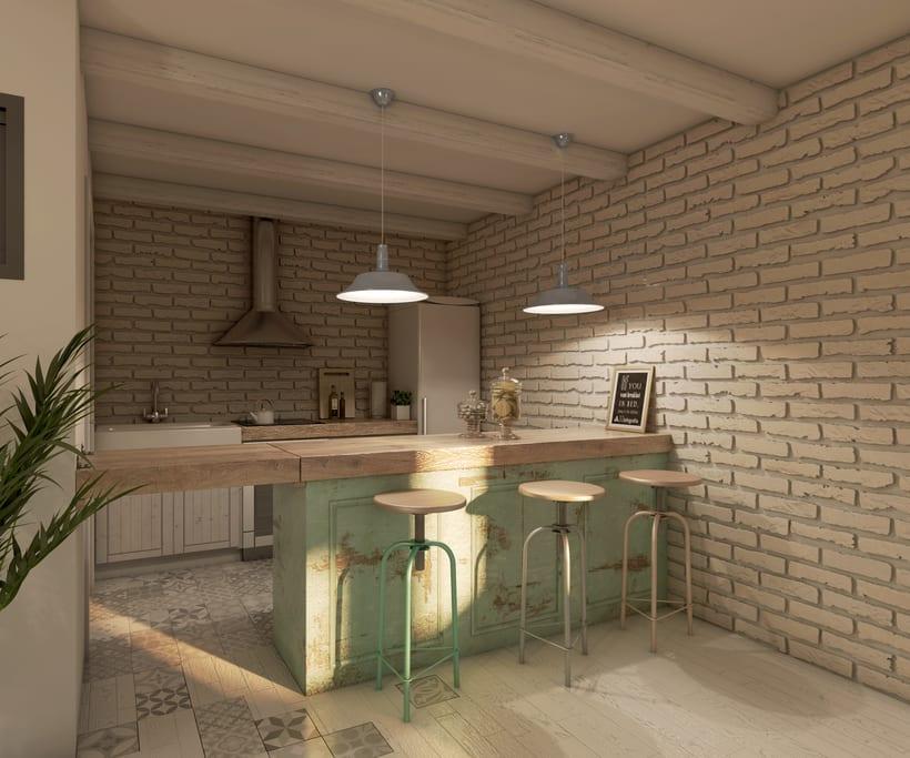 Interiores 3D de Casa Particular en Ciudad Real 9