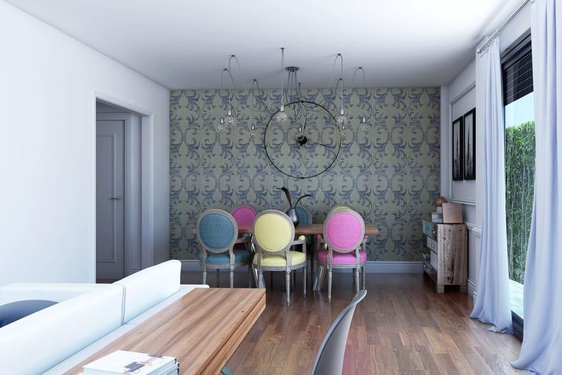 Interiores 3D de Casa Particular en Ciudad Real 3