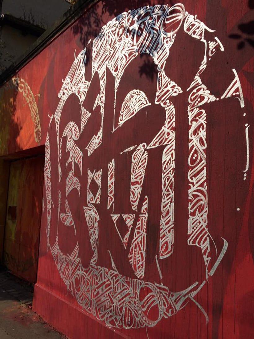 Said Dokins: la caligrafía más allá del papel 7