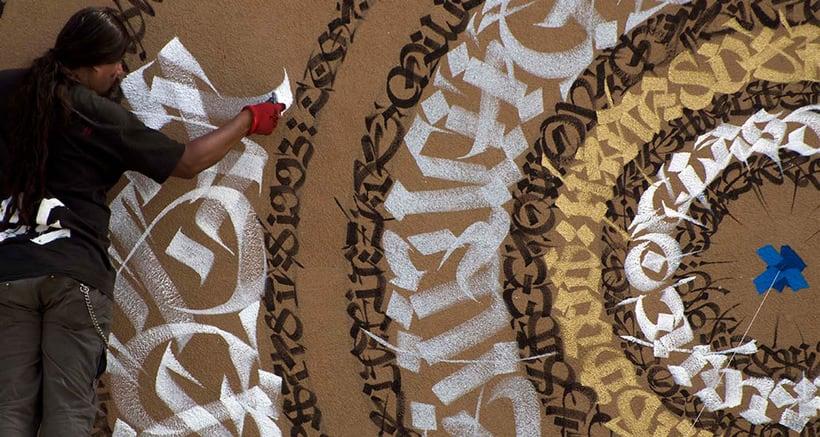 Said Dokins: la caligrafía más allá del papel 11